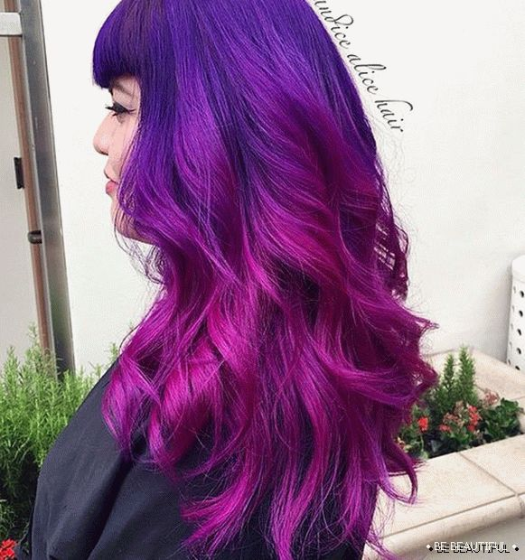 Pink a Purple Ombre